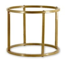 Table Flower / Plate Stand - Gold Round