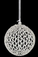 Christmas Ornaments - Frosted Hanging Sphere