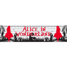 Themed Entrance Banners - Alice in Wonderland