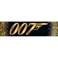 Themed Entrance Banners - 007 Gold Logo