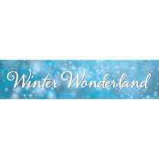 Themed Entrance Banners - Winter Wonderland (Light)
