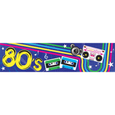 Themed Entrance Banners - 80's