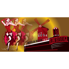 Themed Backdrops Large - Moulin Rouge