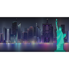 Themed Backdrops Large - NYC Skyline