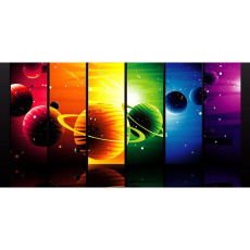 Themed Backdrops Large - Space & Planets