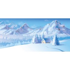 Themed Backdrops Large - Snowy Mountains