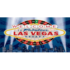 Themed Backdrops Large - Las Vegas Sign