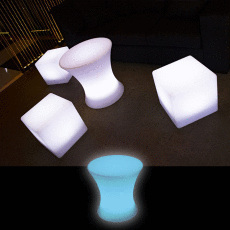 Illuminated Small Bar Table