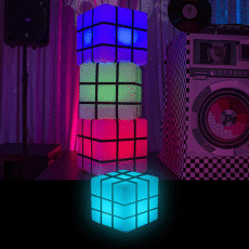 Illuminated Rubix Cube