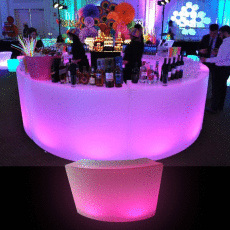 Illuminated Curved Bar