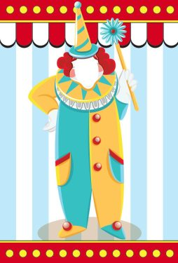Themed Backdrops Small - Circus Theme (light): Clown