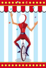Themed Backdrops Small - Circus Theme (light): Juggler