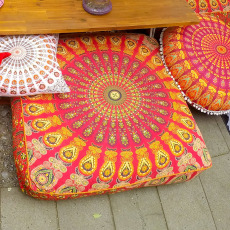 Floor Pillow – Bohemian Mandala Square