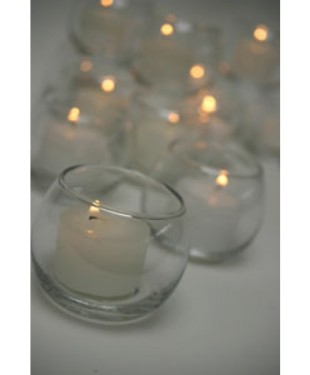 Candle Holders - Glass Sphere Tea Light