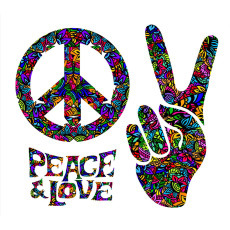 Standard Backdrop - 60's Peace & Love