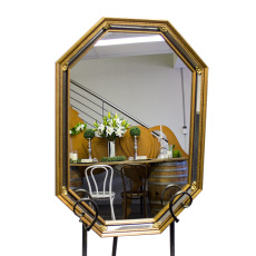 Mirror - Gold Octagon