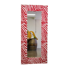 Mirror - Red White Zebra