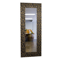 Mirror - Black Gold Leopard