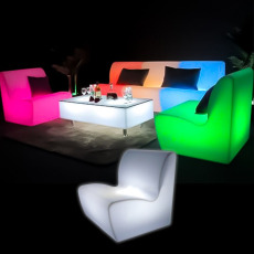 Illuminated Straight Sofa