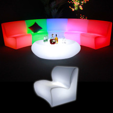 Illuminated Curved Sofa