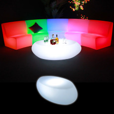 Illuminated Oval Coffee Table