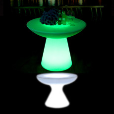 Illuminated Small Mushroom Bar Table