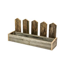 Rustic Picket Fence Planter Box