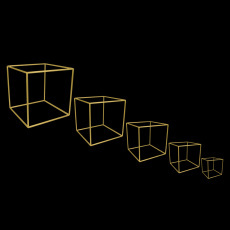 Cube Centrepiece - Gold