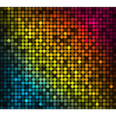 Standard Backdrop - Coloured Disco Dots