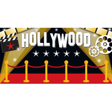 Themed Backdrops Large - Hollywood Red Carpet