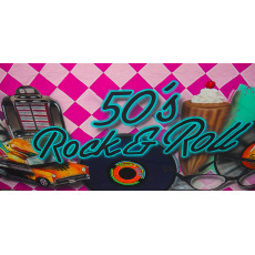 Themed Backdrops Large - Rock & Roll