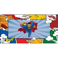 Themed Backdrops Large - Super Hero Superman