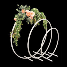 Flower Stand - Hoop - White