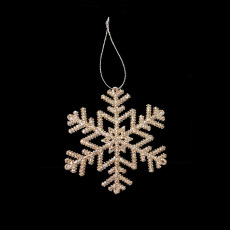 Christmas Ornaments - Gold Snowflake - Fern