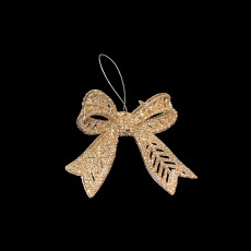 Christmas Ornaments - Gold Bow