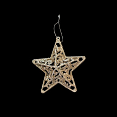 Christmas Ornaments - Gold Star - Mesh