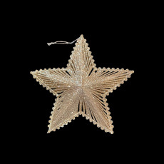 Christmas Ornaments - Gold Star - Large