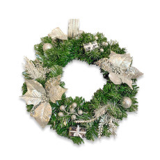 Christmas Wreath - Silver