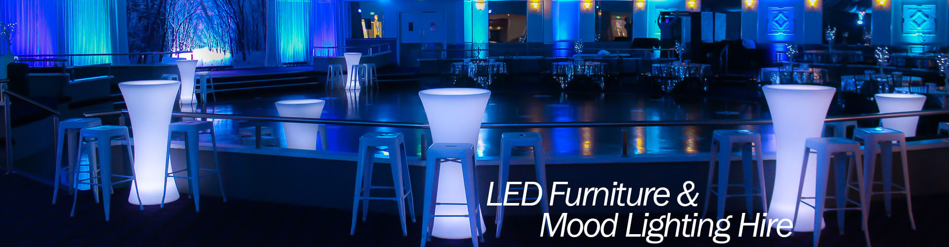 LED furniture and mood lighting hire Melbourne